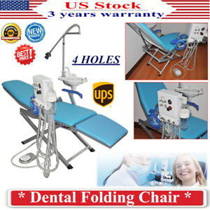 Portable Dental Folding Chair Stool W Led Light Turbine Unit Weak Suction 4h