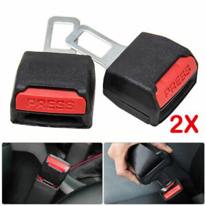 2x Car Safety Seat Belt Buckle Universal Carbon Fiber Alarm Stopper Clip Clamp