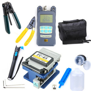 10 in 1 Fiber Optic Ftth Fc 6s Tool Kit Fiber Cleaver Power Finder Locator Meter