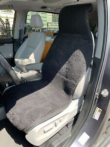 Car Seat Cover Universal Short Soft Wool 100 Handmade Black Color