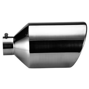 5 Inlet 7 Outlet 18 Long Stainless Steel Bolt On Diesel Exhaust Tip Tail Pipe