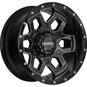20x10 Black Milled Ultra Warlock 5x5 5x5 5 25 Wheels Open Country Mt 35 Tires