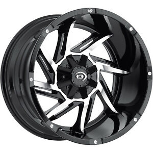 20x12 Black Vision Prowler 5x4 5 5x5 51 Wheels Open Country Mt 35 Tires