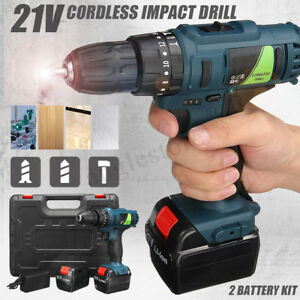 21v Rechargeable Hammer Cordless Impact Drill Electric Screwdriver