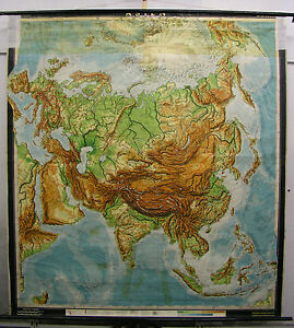 Schulwandkarte Map Asian China India Thailand Wall 77 3 16x83 7 8in North