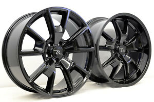20 Gloss Black 05 18 Mustang Staggered Wheels 20x8 5 20x10 5x114 3 S197 S550
