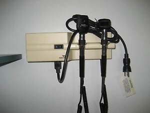Welch Allyn 767 Wall Transformer Otoscope Ophthalmoscope With Heads