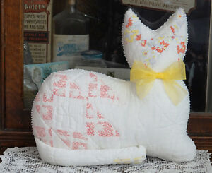 Antique Cat S Cradle Quilt Kitty Cat Pillow Toy