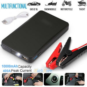 Portable Car Jump Starter 10000mah 400a Peak Emergency Battery Booster Jumper