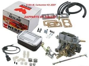 Jeep Redline K 551 M Weber Carburetor Kit