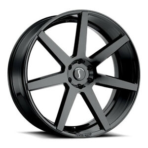 26 Inch 26x10 Status Journey Gloss Black Wheel Rim 6x5 5 6x139 7 15