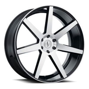 26 Inch 26x10 Status Journey Black Machined Wheel Rim 6x5 5 6x139 7 15
