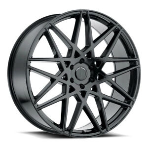 26 Inch 26x10 Status Griffin Gloss Black Wheel Rim 6x5 5 6x139 7 15