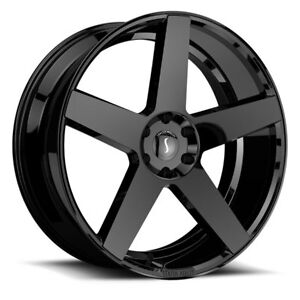 26 Inch 26x10 Status Empire Gloss Black Wheel Rim 6x5 5 6x139 7 25