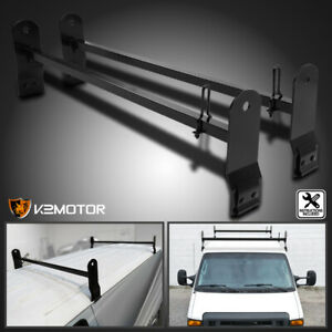 Fit Ford E Series Express Savana Van Ladder Roof Rack Rain Gutter Cross Bars