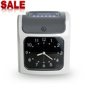 Analogue Electronic Calculating Time Recorder Clock Employee Monthly weekly New