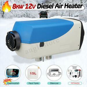 8kw 12v Diesel Air Heater Lcd Thermostat W Control 15l Tank For Car Truck Boat