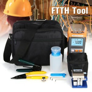 Pro Fiber Optic Ftth Termination Tool Kits Fault Finder Power Meter Cleaver