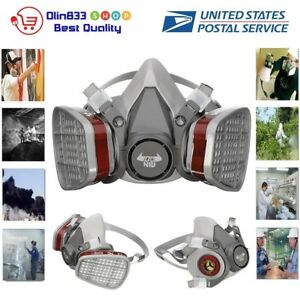 N95 Half Face Gas Mask 6200 Respirator Facepiece Paint Spraying Dust Safety Usa