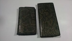 2 oil Field Leather Snake Print Pipe Tally Book Covers 8 75 x4 6 5 x4 A