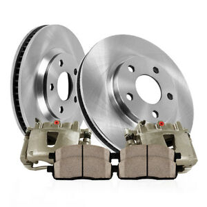 Rear Oe Brake Calipers Rotors Ceramic Pads Kit For Dodge Charger Challenger