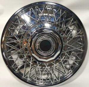 Vintage 14 Inch Wire Spoke Wheel Cover Hubcap Chrome Ford Chevy Gm Dodge Buick