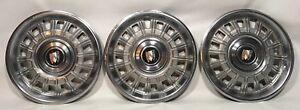 Vintage Buick Gm 15 Inch Hubcaps Wheel Covers Hub Cap 3