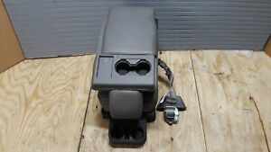 Center Bench Jump Seat Console Grey Gray Vinyl Front Seat Ford F150 15 16 17