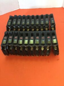 Qty 20 Square D Qob 120 Circuit Breakers