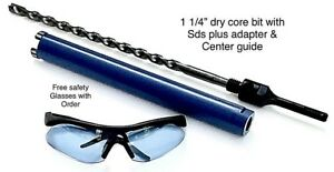 1 1 4 Dry Core Bit Sds Plus Adapter Center Guide Rotary Hammer Drill