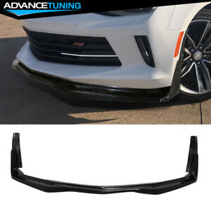 Fits 16 18 Chevy Camaro V6 Stingray Stage 3 Style Front Bumper Lip Chin Spoiler
