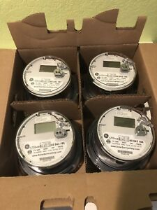Ge I 210 Ce Digital Watthour Electric Smart Meter Cl 200 240v 3w Fm2s Lot Of 4