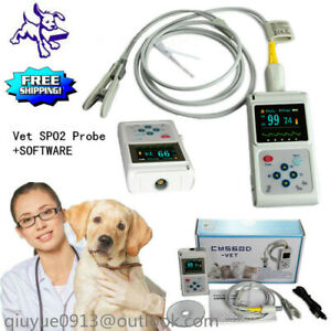 Vet Veterinary Pulse Oximeter Spo2 Pr Monitor Cms60d vet Probe pc Sw Us Seller