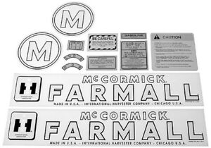 Decal Fits International Harvester M Tractor