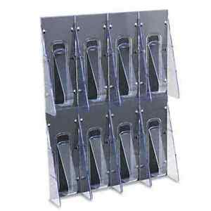 Deflecto Stand Tall One piece Literature Rack