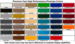 2 Mil Cast Hi Perf Pinstriping Vinyl Graphics Car Tape Decal Stickers 36 Roll