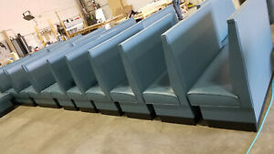 Commercial Restaurant Booth Furniture wall Bench In Plain Back Style