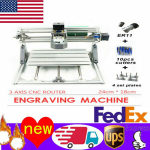 Diy 3 Axis Cnc 24x18 Wood Engraving Carving Pcb Milling Machine Router Engraver