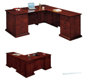 Executive L Shaped Desk Right Or Left Return Quality Wood Office Furniture