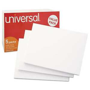 Universal White 5 X 8 Unruled Index Cards pack Of 2