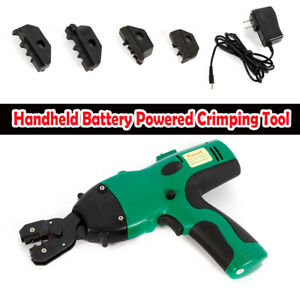 0 5 6mm2 Battery Powered Hand Cable Wire Crimper Automatic Crimping Tool 120kn