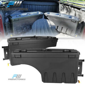 Fit 07 19 Toyota Tundra Truck Bed Storage Box Toolbox Swing Case Pair Left Right