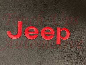 2013 2017 Jeep Wrangler 4 Door Alea Leather Seat Covers Kit Black With Red Logo