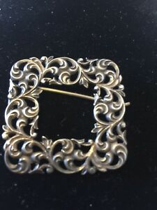 Victorian Sterling Small Square Figural Picture Frame From Estate Signed