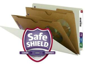 Smead End Tab Classification File Folder With Safeshield Fasteners 2 Pocket st