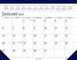 House Of Doolittle 2019 Monthly Desk Pad Calendar Classic 22 X 17 Inches