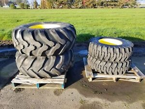 John Deere 5000 Series Set Of 4 Wheels Tires Goodyear 19 5l 24 12 5 80 18nhs
