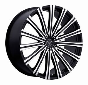 26 Inch 26x9 5 Versante Ve230 Machined Black Wheel Rim 6x5 5 6x139 7 25