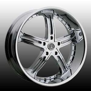 26 Inch 26x9 5 Versante Ve226 Chrome Wheel Rim 5x135 15