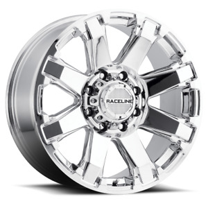 18 Inch 18x9 Raceline 936c Throttle Chrome Wheel Rim 8x180 18